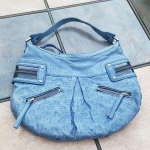 L.A.M.B. Leather Large Hobo Shoulder Bag